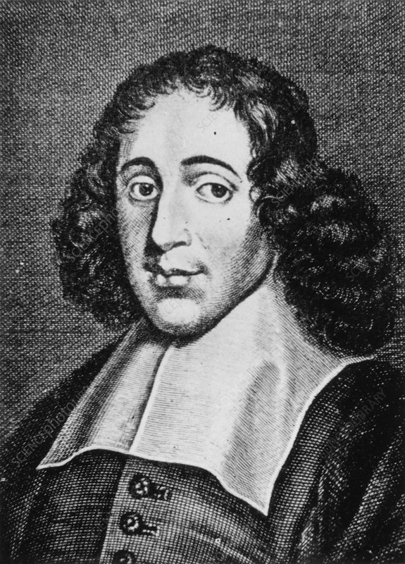 Engraving of Baruch Spinoza, Dutch philosopher