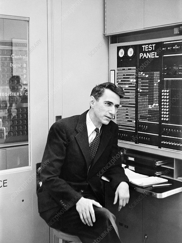 Claude Shannon, US mathematician