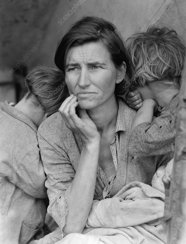 Migrant mother, 1930s USA