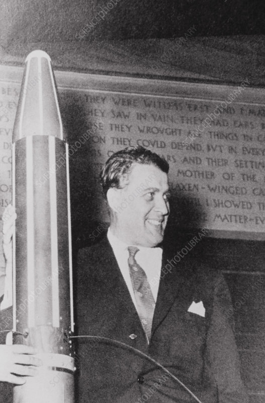 German-US rocket engineer, Wernher von Braun