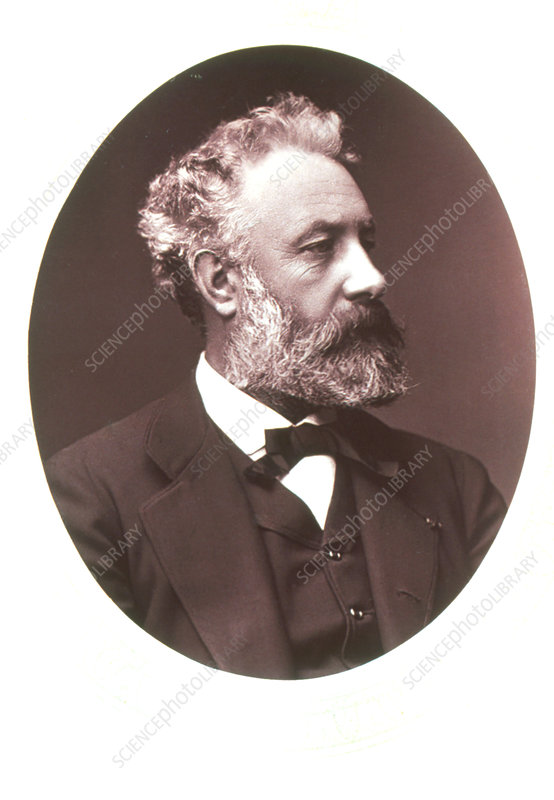Portrait of the French novelist Jules Verne