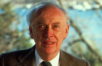 Portrait of American biochemist James Watson