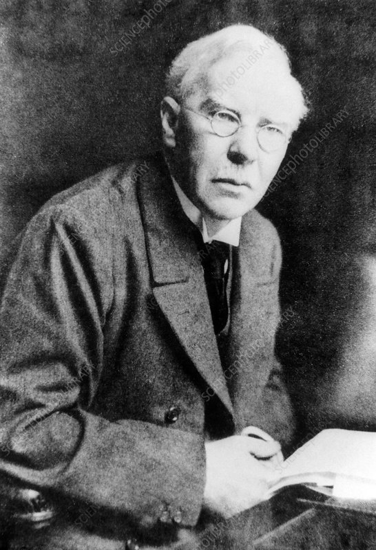 Portrait of bacteriologist, Sir Almroth Wright