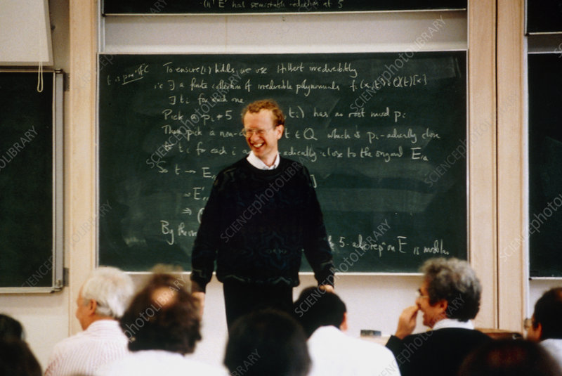 A.Wiles proving Fermat's Last Theorem - Stock Image - H423/0079 ...