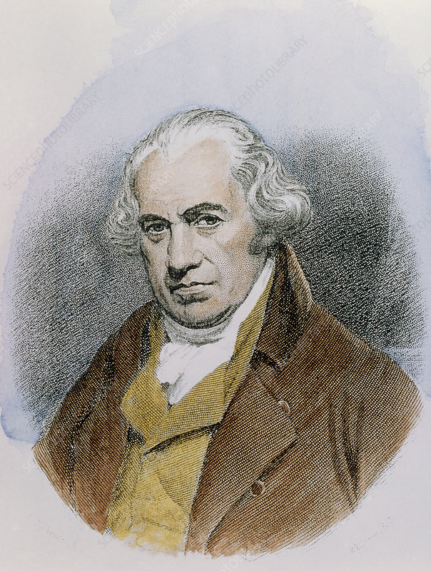 Portrait of James Watt, Scottish engineer