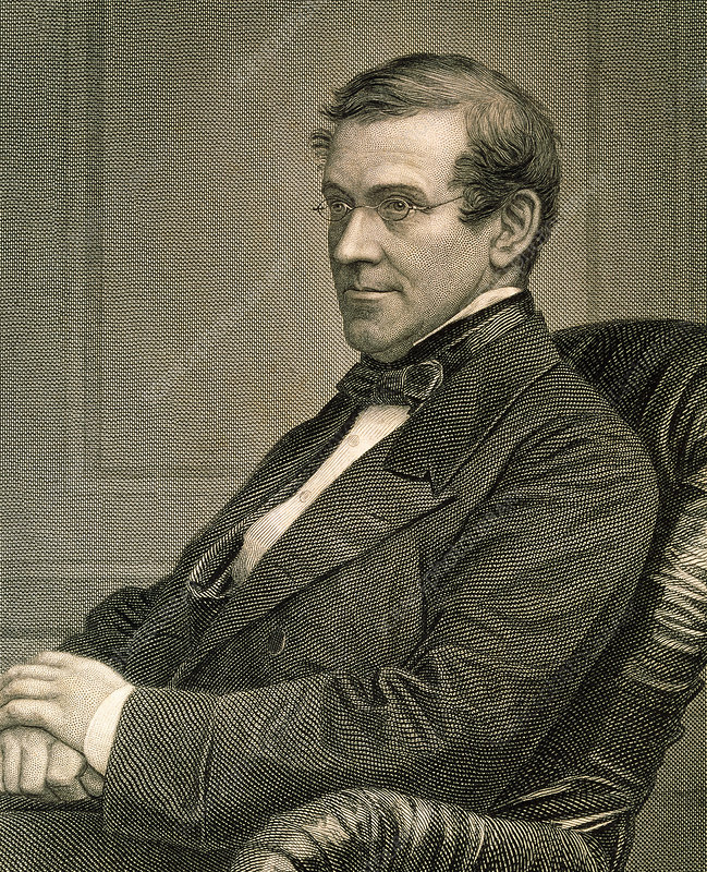 Engraving of Charles Wheatstone, British physicist