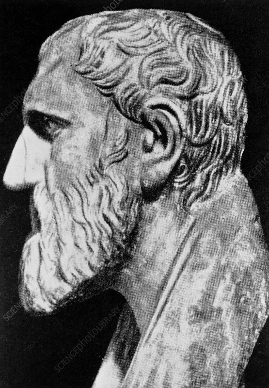 Bust of Zeno, Greek philosopher and mathematician