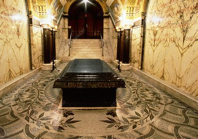 Pasteur's tomb in crypt of Pasteur Museum, Paris
