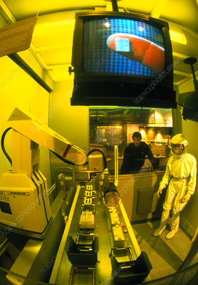 Clean room exhibit in computer museum