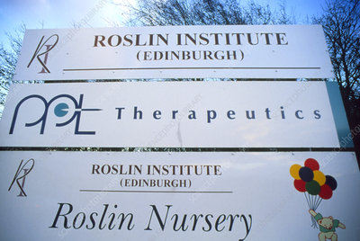 Sign of the Roslin Institute in Edinburgh