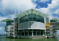 Exterior view of the Lisbon Oceanarium, Portugal