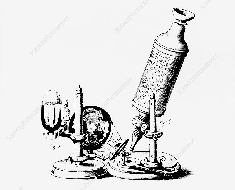 Hooke's compound microscope, 1665