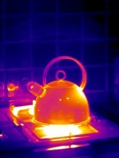 Making tea, thermogram