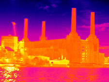 Battersea Power Station, thermogram