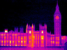 House of Parliament, UK, thermogram