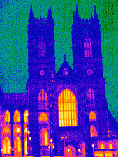Westminster Abbey, UK, thermogram
