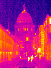 St Paul's Cathedral, UK, thermogram