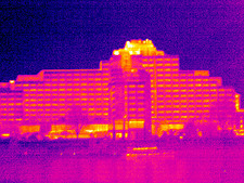 Tower hotel, London, UK, thermogram