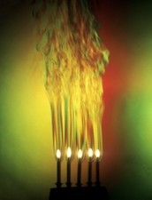 Candles on a cake, Schlieren image