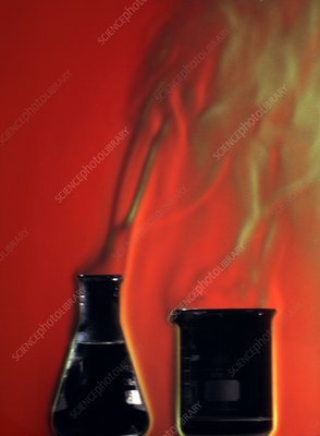 Fuming chemicals, Schlieren image