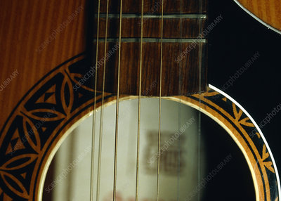 High-speed photo of guitar strings