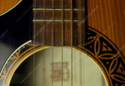 Vibration of guitar strings
