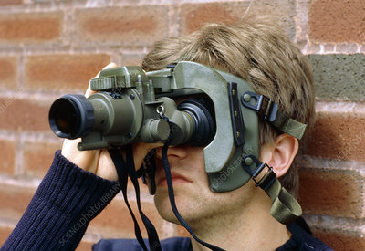 Man wearing General purpose night vision goggles