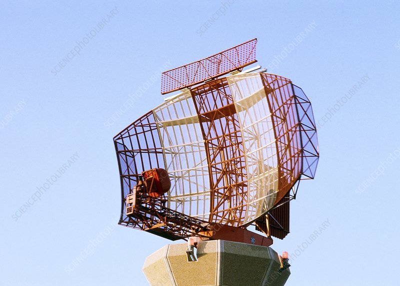 Radar scanner at Heathrow airport