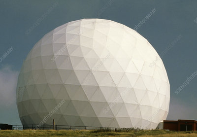 Geodesic radar dome, Lowther Hill, Scotland.