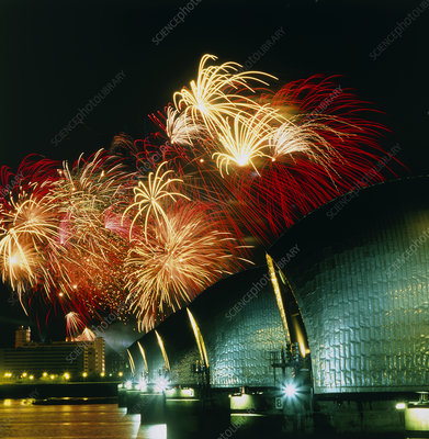 Fireworks and the Thames Barrier