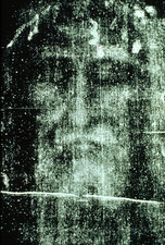 Image processed photo of part of Turin Shroud