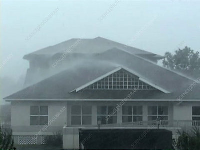 Heavy rain on house