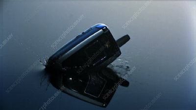Mobile phone falling into water