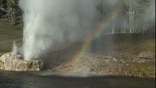 Riverside geyser at Old Faithful area