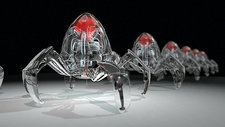 Medical nanobots marching in a rank