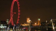 London Eye at night, UK