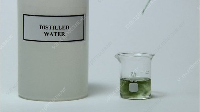 Universal Indicator In Distilled Water Stock Video Clip