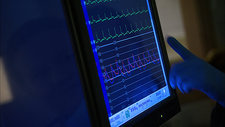 Screen displaying patient's vital signs