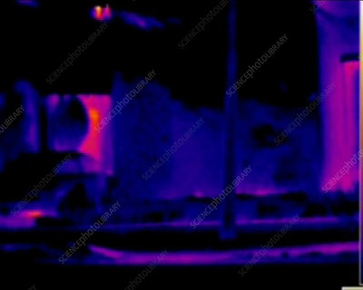 Heat loss from houses, thermography