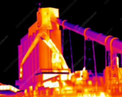 Loading crane, thermography