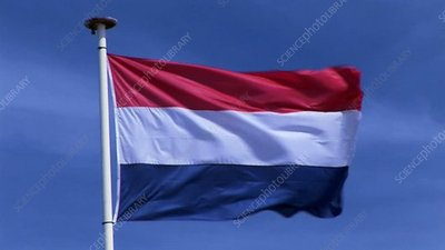Dutch Flag in wind