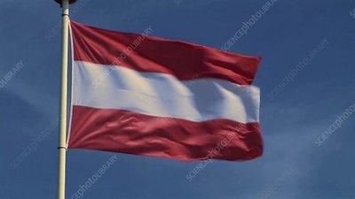 Austrian Flag in wind
