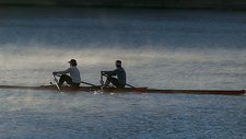 Early morning rowers, Pittsburgh