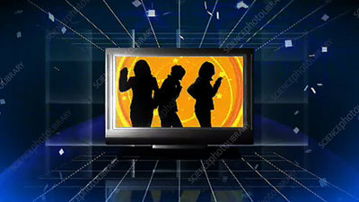 TV with people dancing