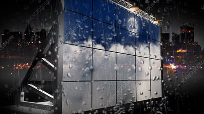 3D Billboard in rain