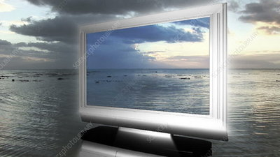 LCD TV in the sea