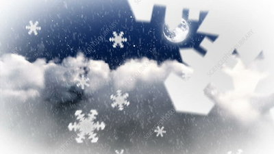 Falling snow, animation
