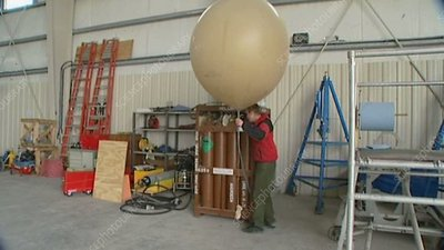 Helium weather balloon