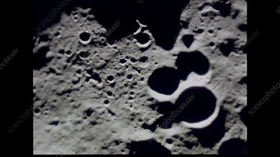 Apollo 8 lunar surface views from orbit