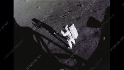 Armstrong's first activities on the Moon